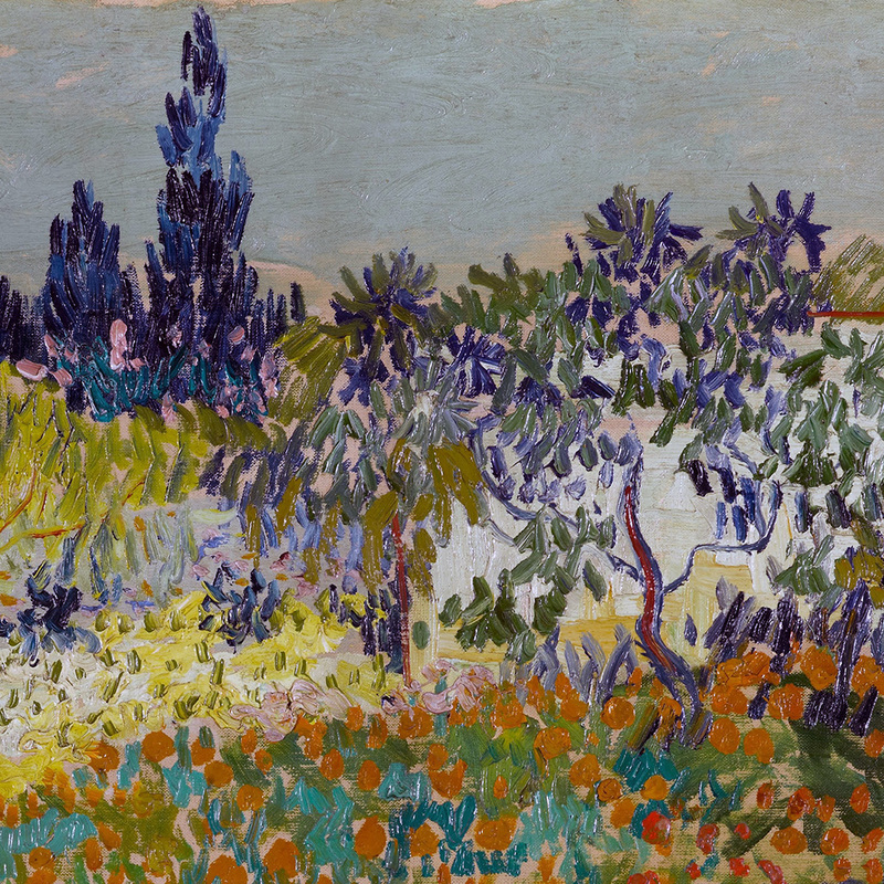 Flowering Garden With Path (detail) By Vincent Van Gogh