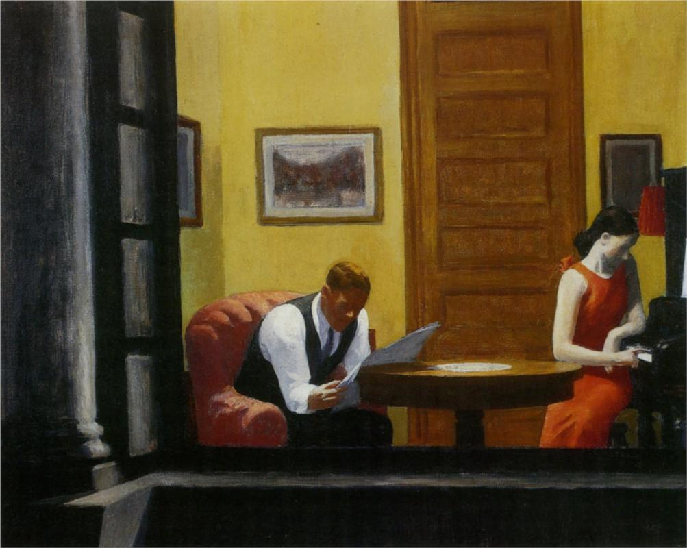 Room in New York by Edward Hopper | Lone Quixote