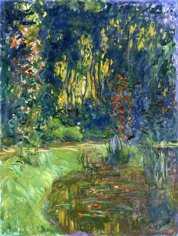 Water Lily Pond at Giverny (1919) by Claude Monet