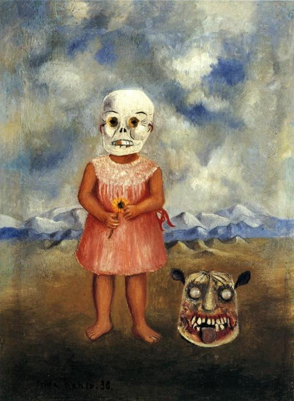 Girl with Death Mask (She Plays Alone) by Frida Kahlo