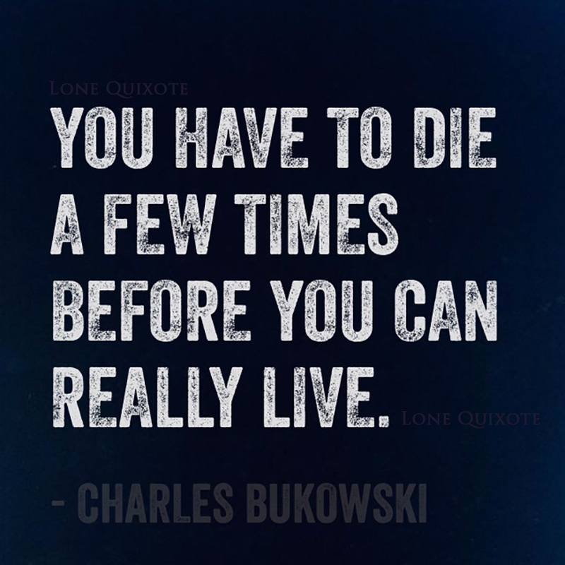 """You have to die a few times before you can really live."" -- Charles Bukowski"