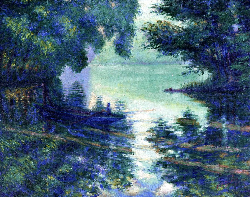 The Seine near Giverny by Theodore Earl Butler