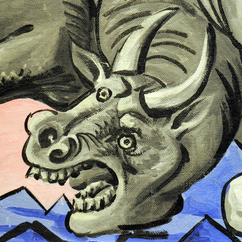 Dying Bull (detail) by Pablo Picasso | Lone Quixote