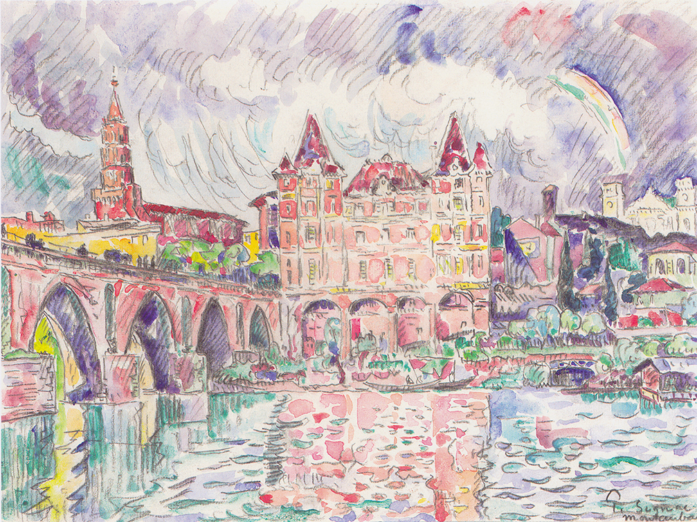 View of Montauban in the Rain by Paul Signac