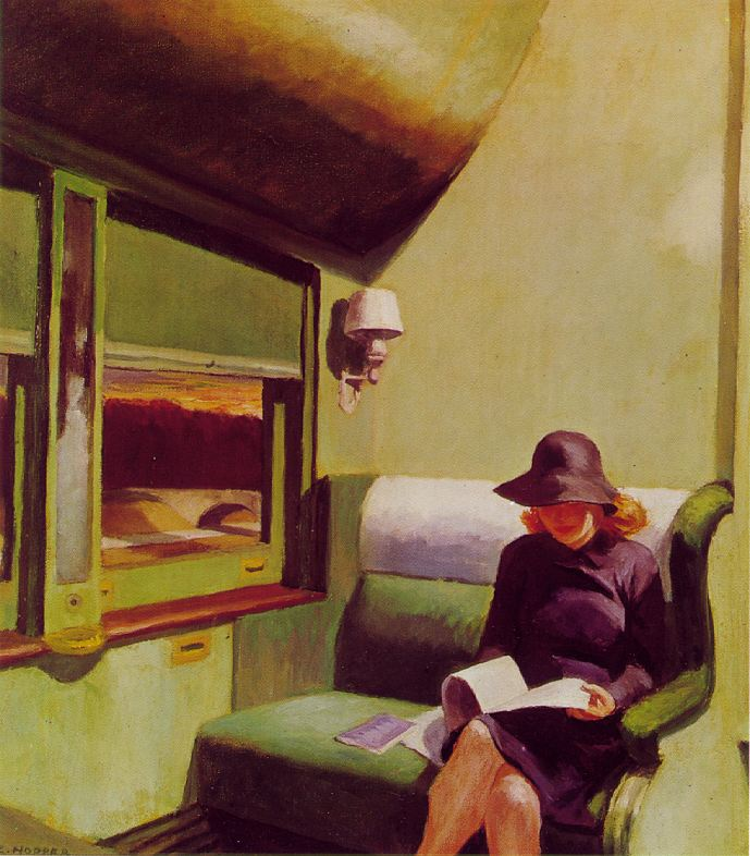 Compartment Car by Edward Hopper