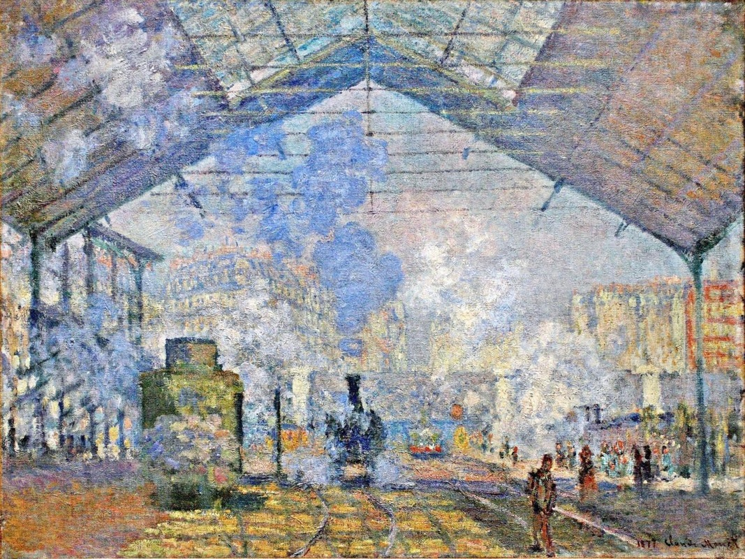 Saint Lazare Station, Exterior View by Claude Monet