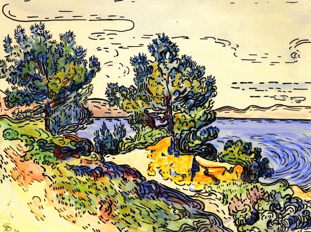 Coastal Landscape with Trees by Paul Signac