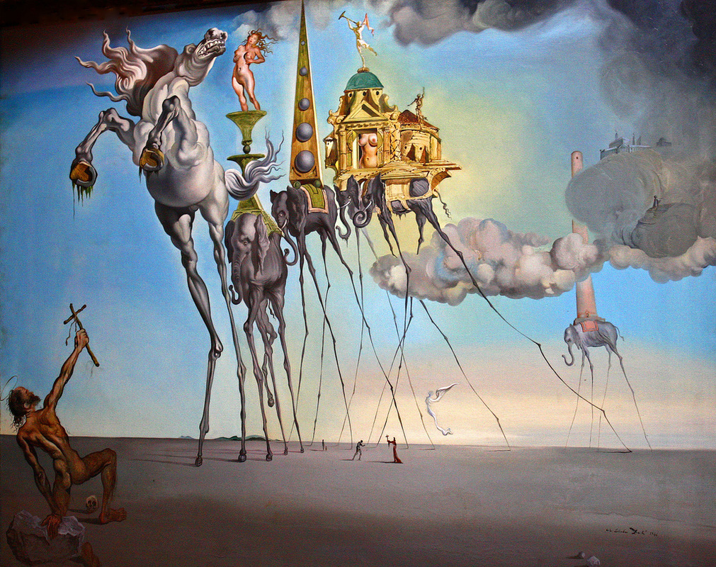 The Temptation of Saint Anthony by Salvador Dali | Lone Quixote • @lonequixote |