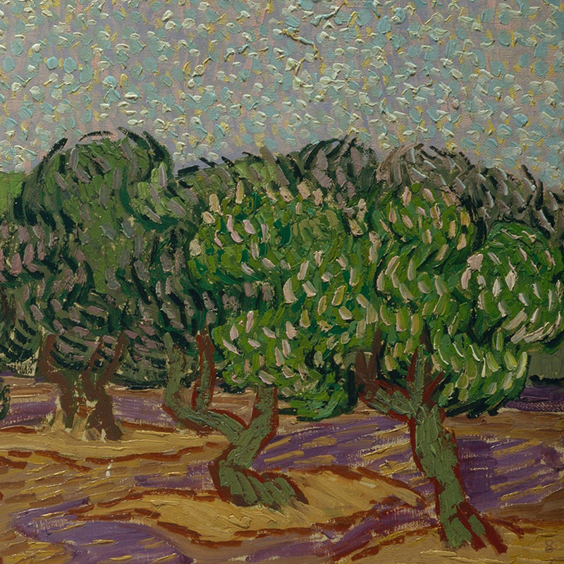 Olive Trees (detail) by Vincent van Gogh | Lone Quixote
