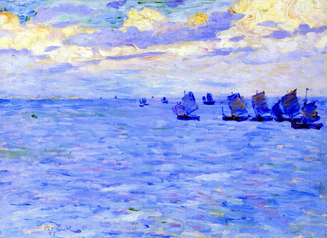 Fishing Boats Setting Sail by Theo van Rysselberghe