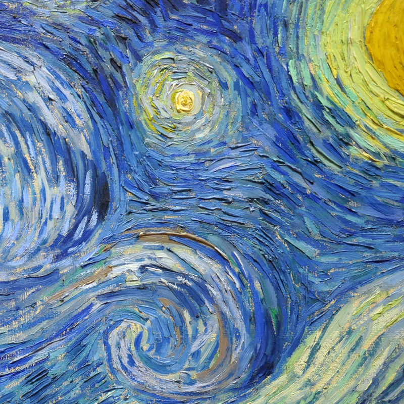 Starry Night (detail) by Vincent van Gogh | Lone Quixote