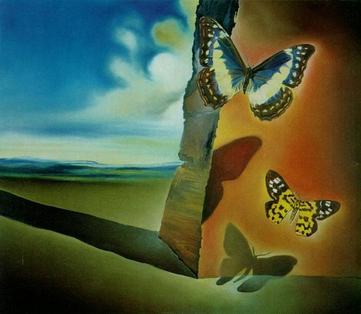 Untitled (Landscape with Butterflies) by Salvador Dali