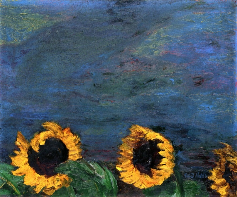 Blue Sky and Sunflowers by Emil Nolde | Lone Quixote