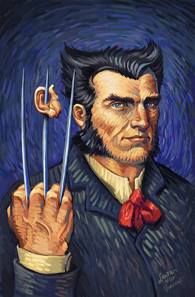 Portrait of Wolverine (after Vincent van Gogh) by Laura Martin