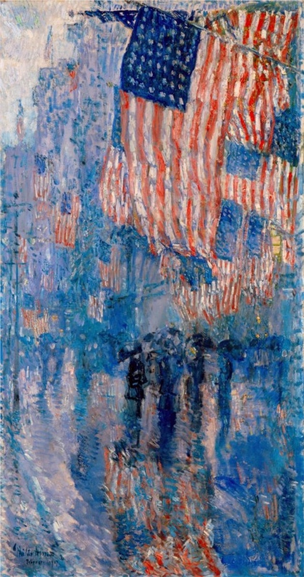 The Avenue in the Rain by Childe Hassam | Lone Quixote