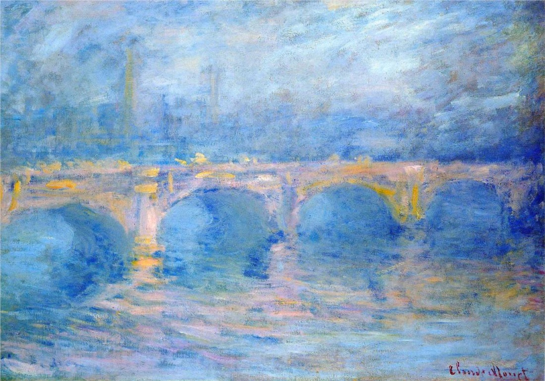 Waterloo Bridge at Sunset, Pink Effect by Claude Monet