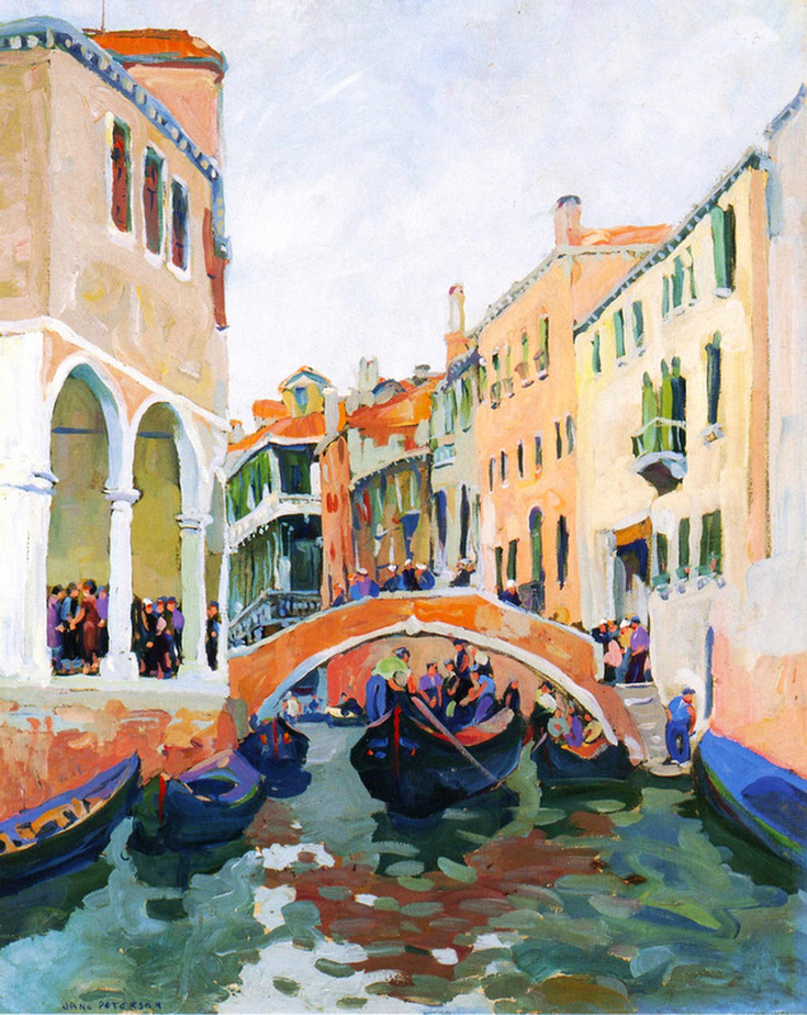 Venetian Canal by Jane Peterson