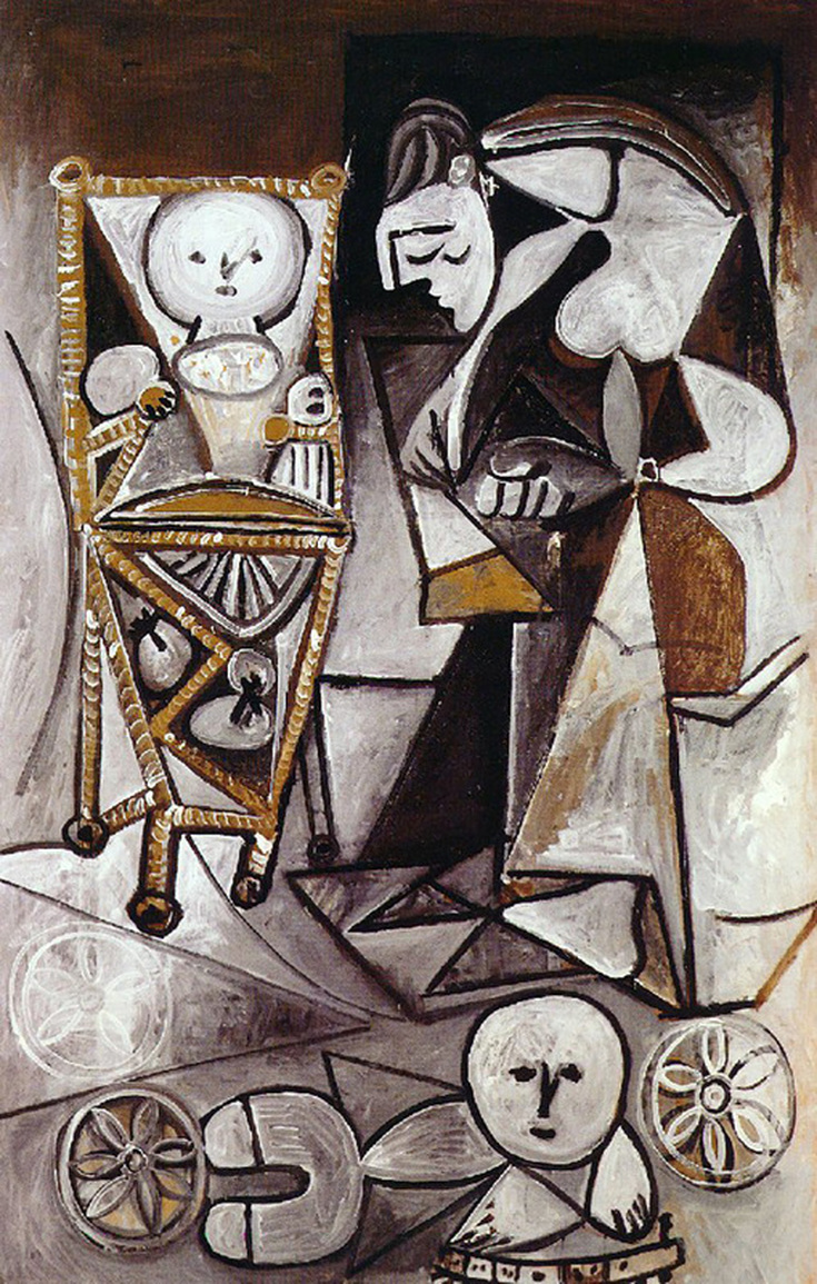 Drawing Woman Surrounded by Her Children by Pablo Picasso | Lone Quixote