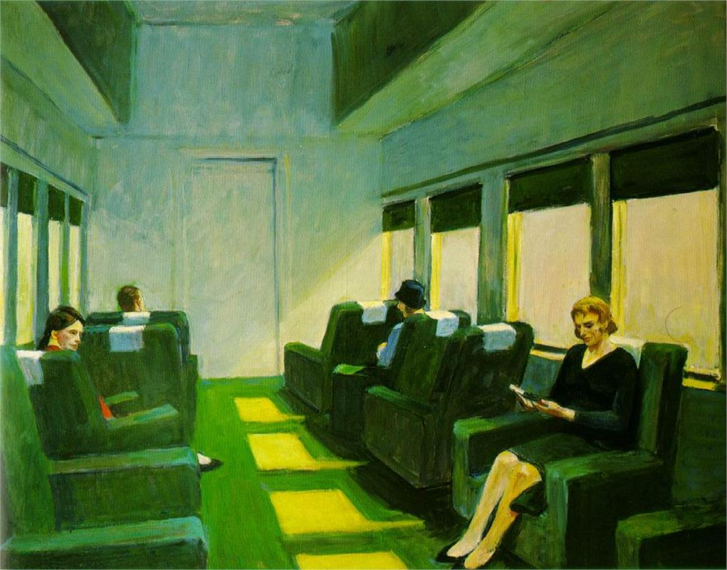 Chair Car by Edward Hopper