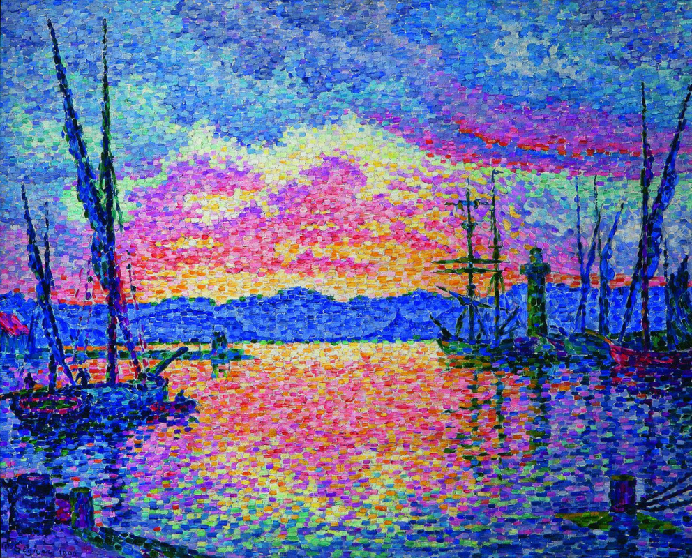 The Port, Red Sunset by Paul Signac