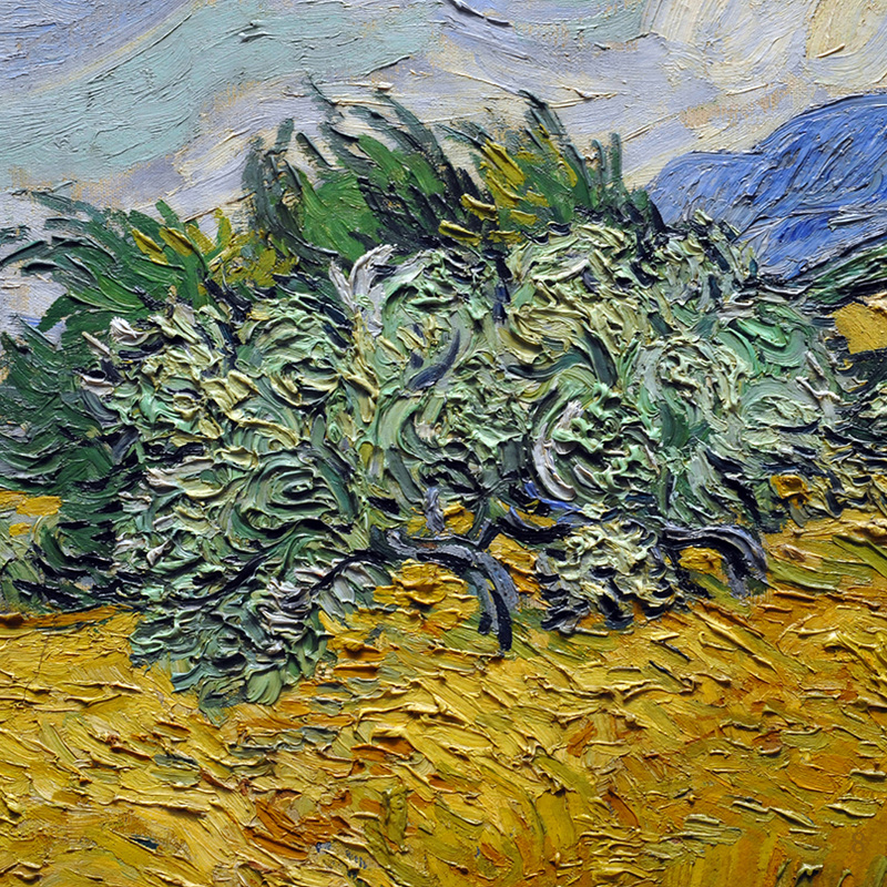 Wheatfield with Cypress Tree (detail) by Vincent van Gogh | Lone Quixote
