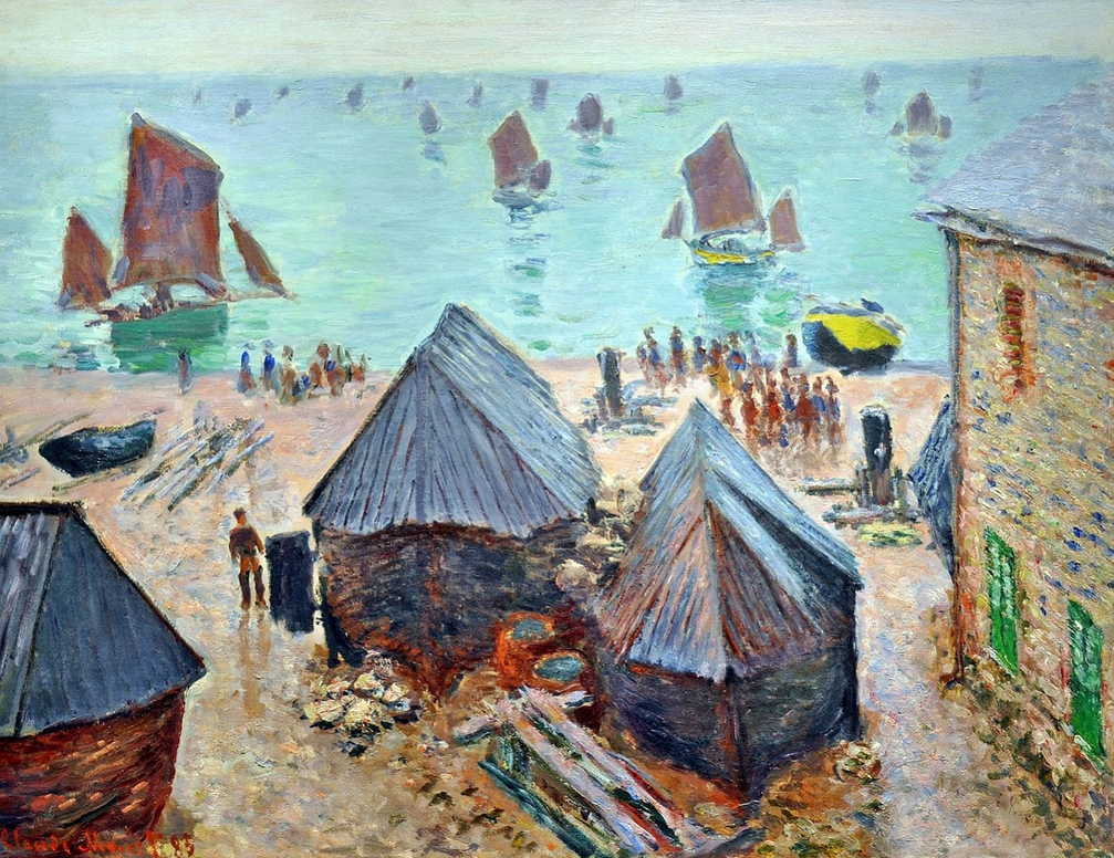 The Departure of the Boats by Claude Monet | Lone Quixote