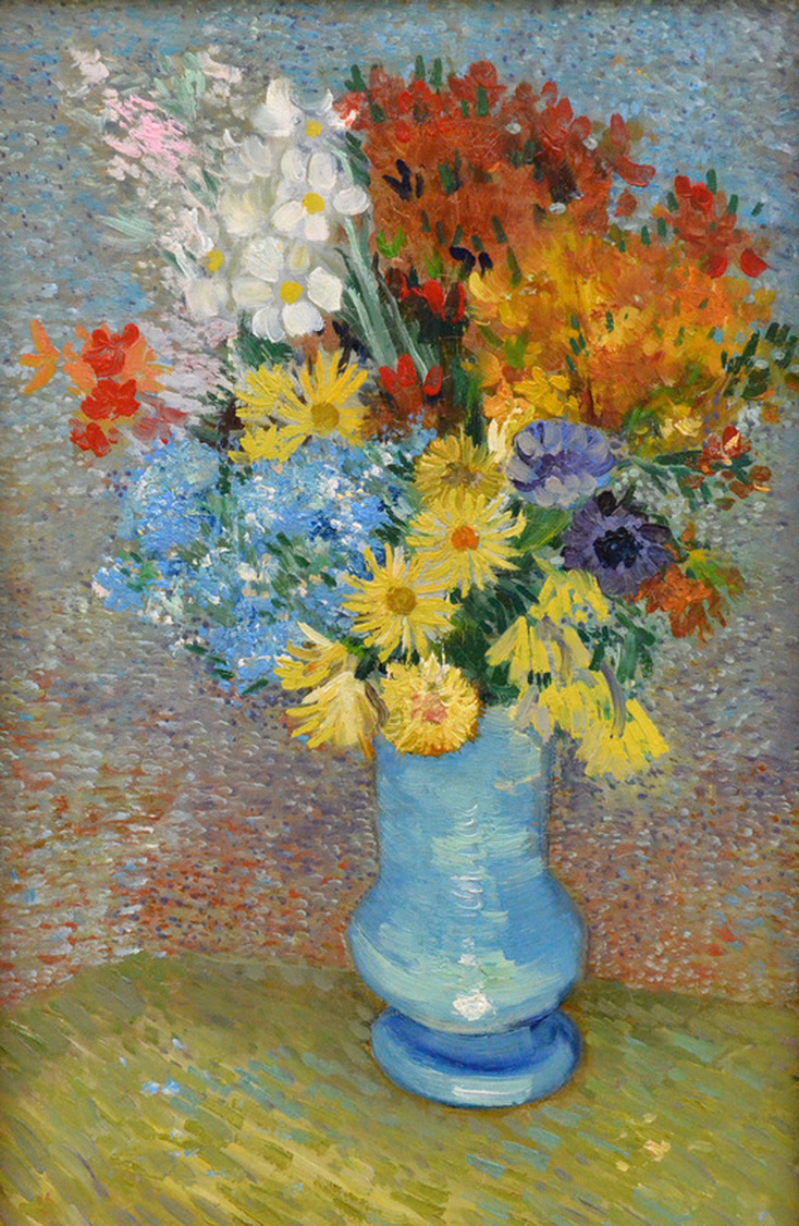 Flowers in a Blue Vase by Vincent van Gogh | Lone Quixote