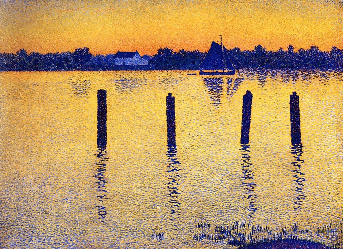 Sailboats on the River Scheldt by Theo van Rysselberghe