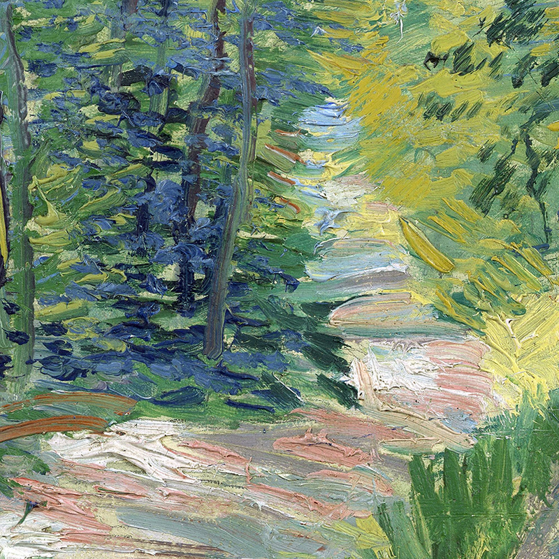 Path in the Woods (detail) by Vincent van Gogh | Lone Quixote