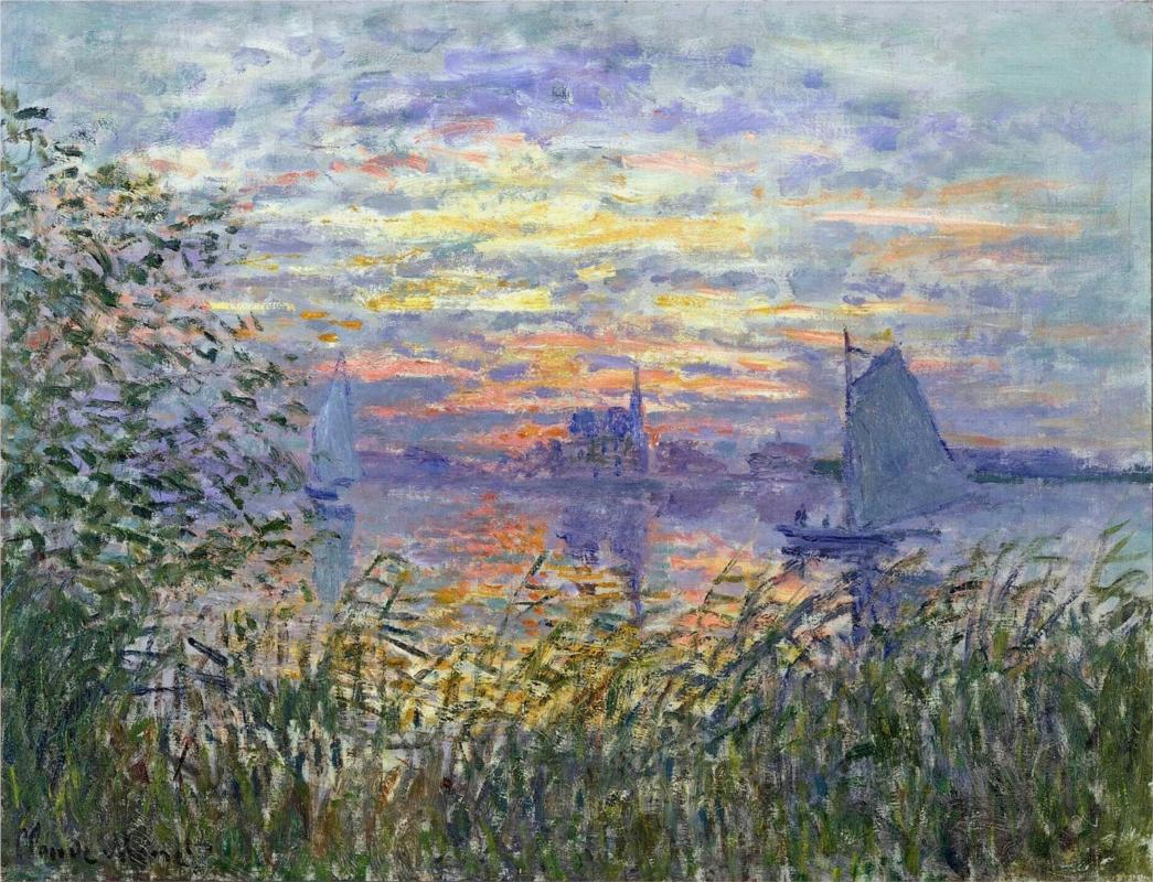 Sunset on the Siene by Claude Monet