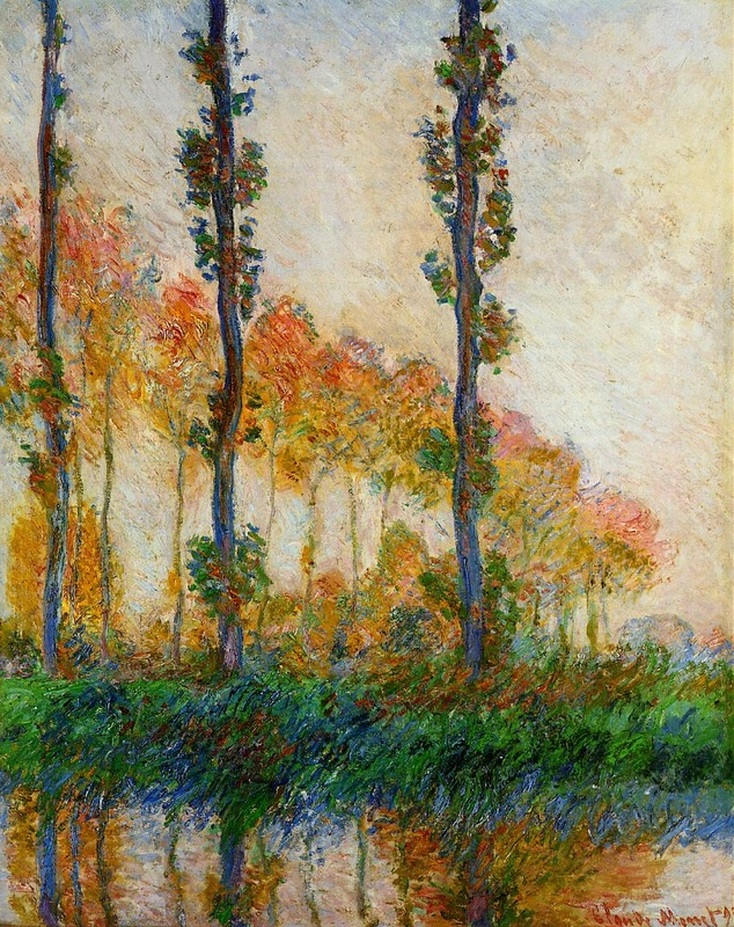 The Three Trees, Autumn by Claude Monet | Lone Quixote