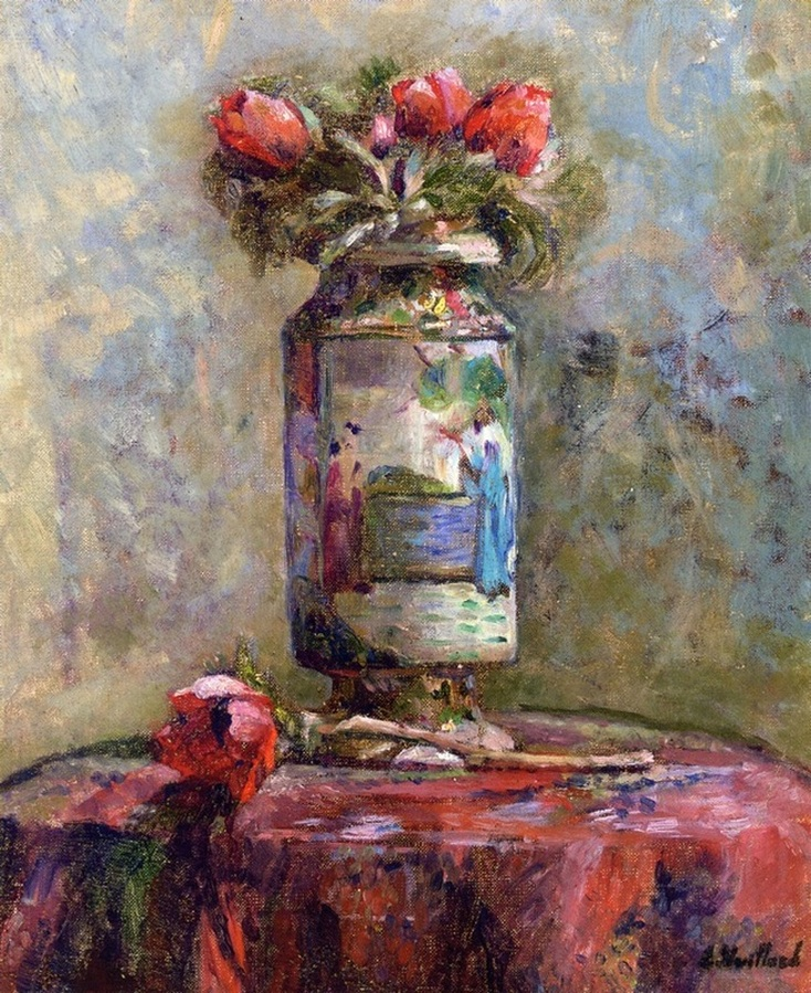 Anemones in a Chinese Vase by Edouard Vuillard