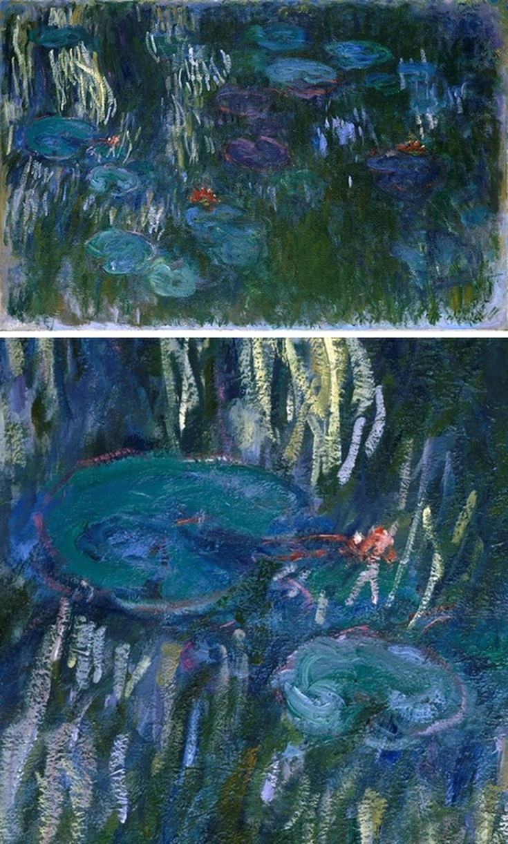 Water Lilies, 1916 by Claude Monet with Detail View