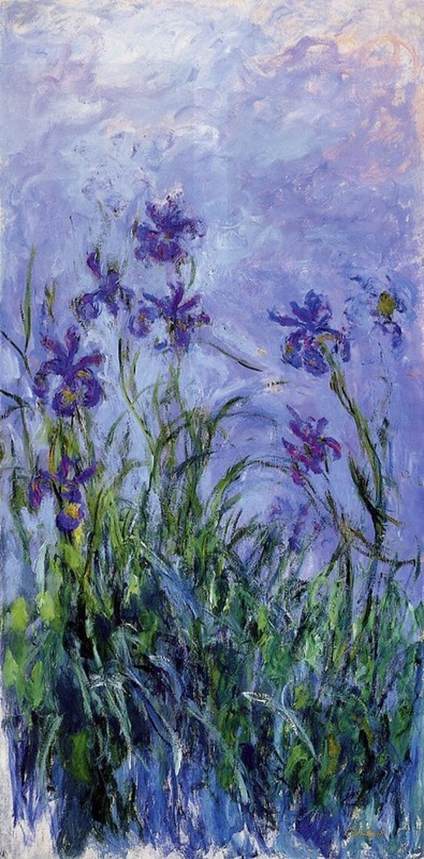 Lilac Irises by Claude Monet | Lone Quixote