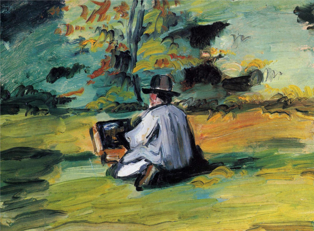 A Painter at Work by Paul Cezanne