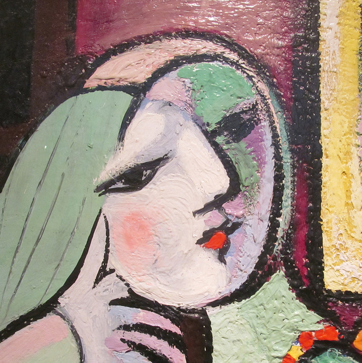 Woman with Book (detail) by Pablo Picasso | Lone Quixote