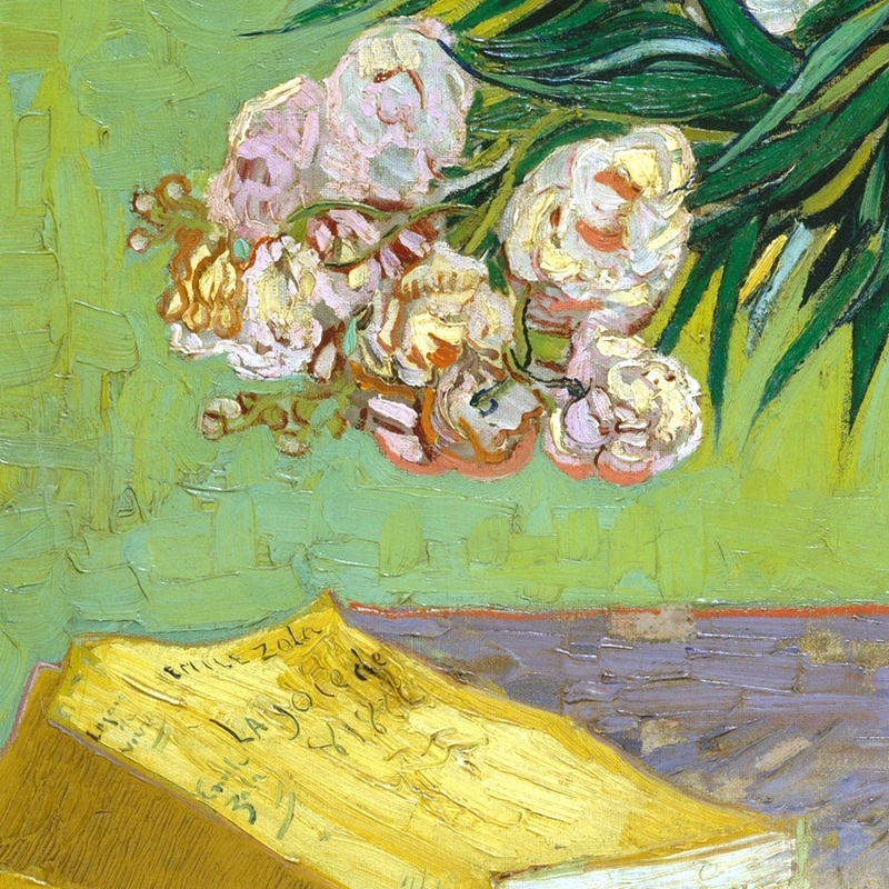 Oleanders and Books (detail) by Vincent van Gogh | Lone Quixote