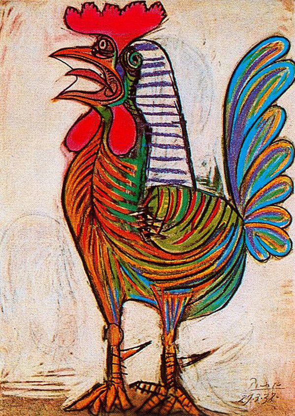 A Rooster by Pablo Picasso | Lone Quixote
