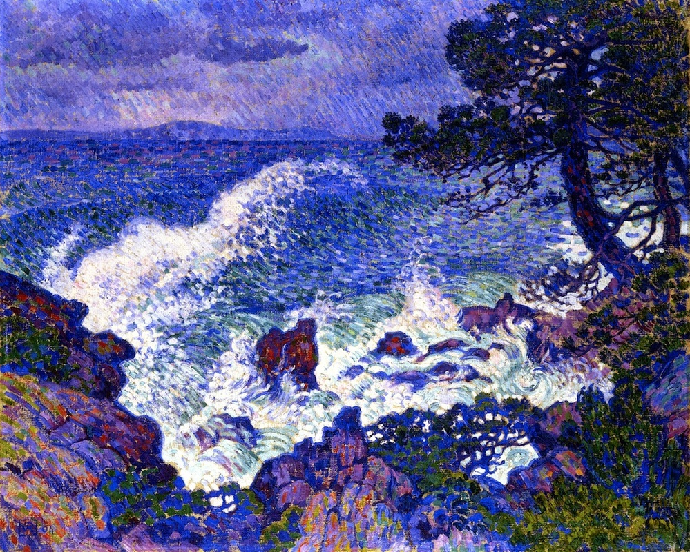 East Wind by Theo van Rysselberghe