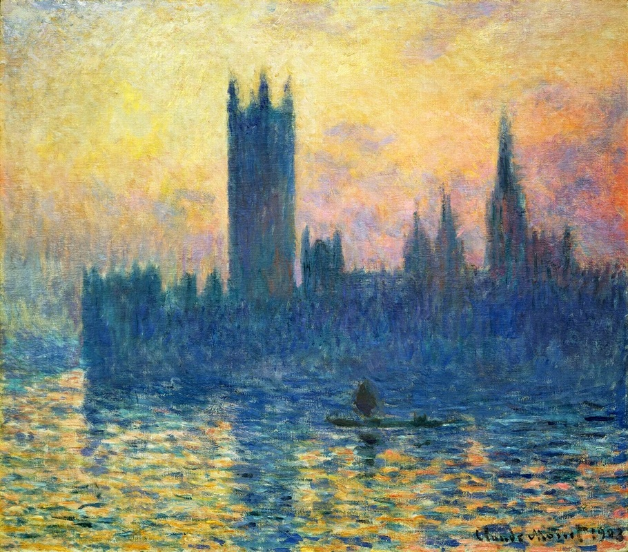 Houses of Parliament in Winter by Claude Monet