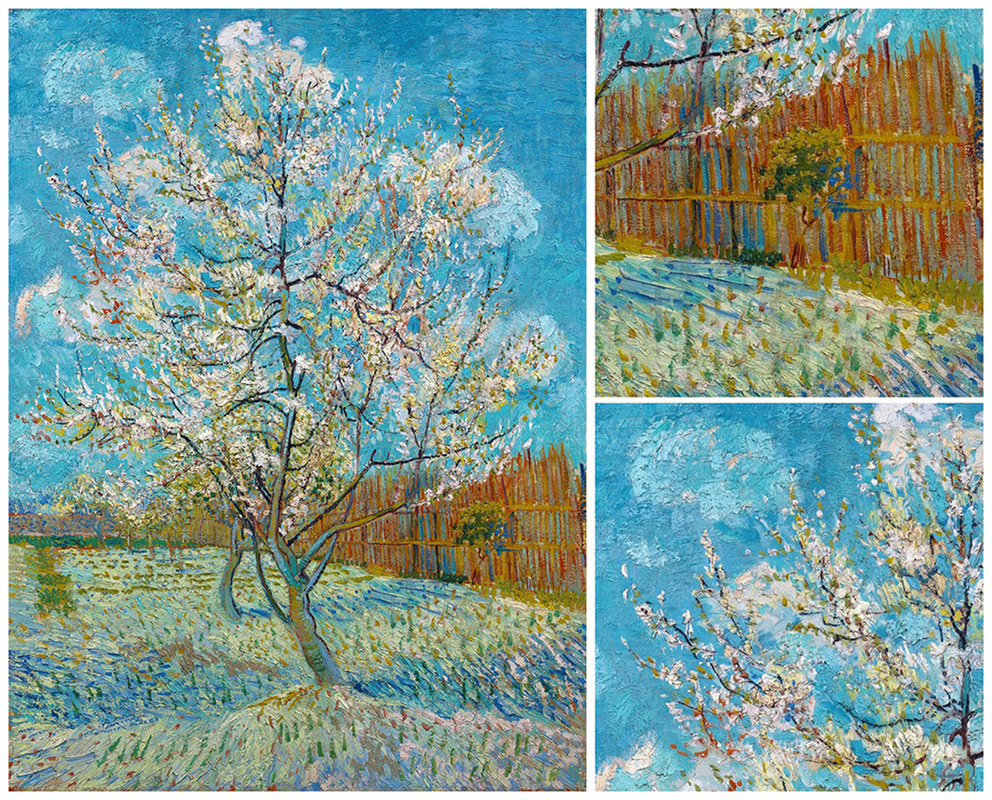The Pink Peach Tree (with details) by Vincent van Gogh | Lone Quixote