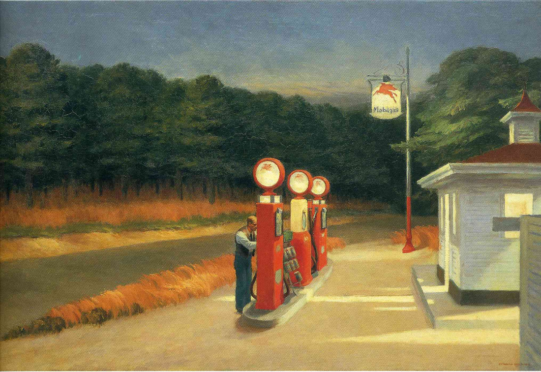 Gas by Edward Hopper