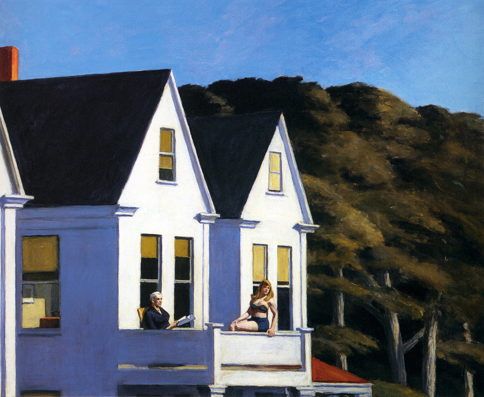 Second Story Sunlight by Edward Hopper