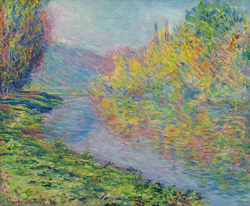 Jeufosse in Autumn by Claude Monet