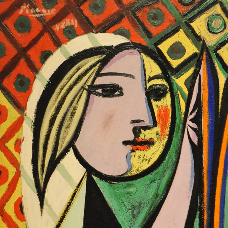 Girl before a Mirror (detail) by Pablo Picasso | Lone Quixote