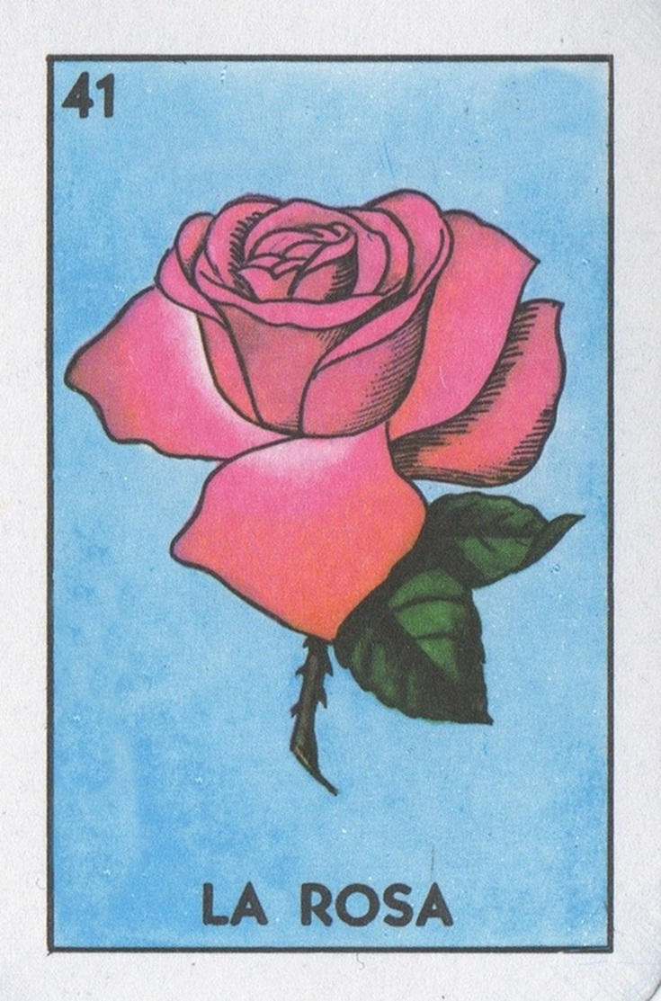 Loteria Art... La Rosa (The Rose) | Lone Quixote
