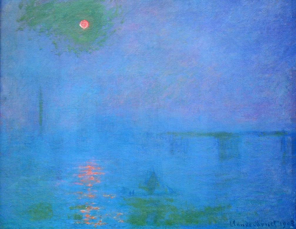Charing Cross Bridge, Fog on the Thames by Claude Monet | Lone Quixote