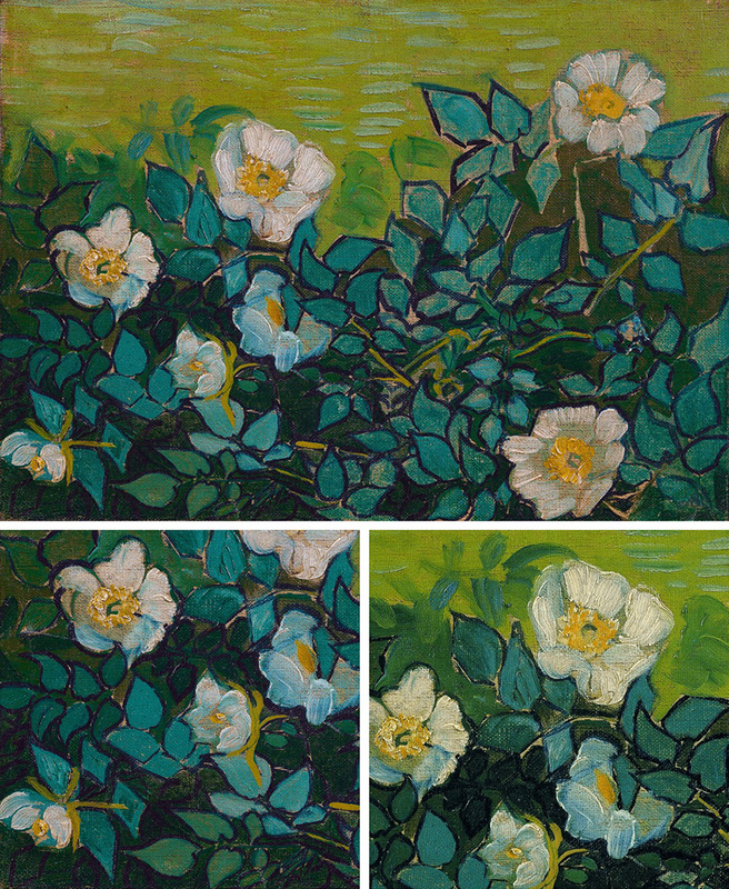 Wild Roses (with details) by Vincent van Gogh | Lone Quixote