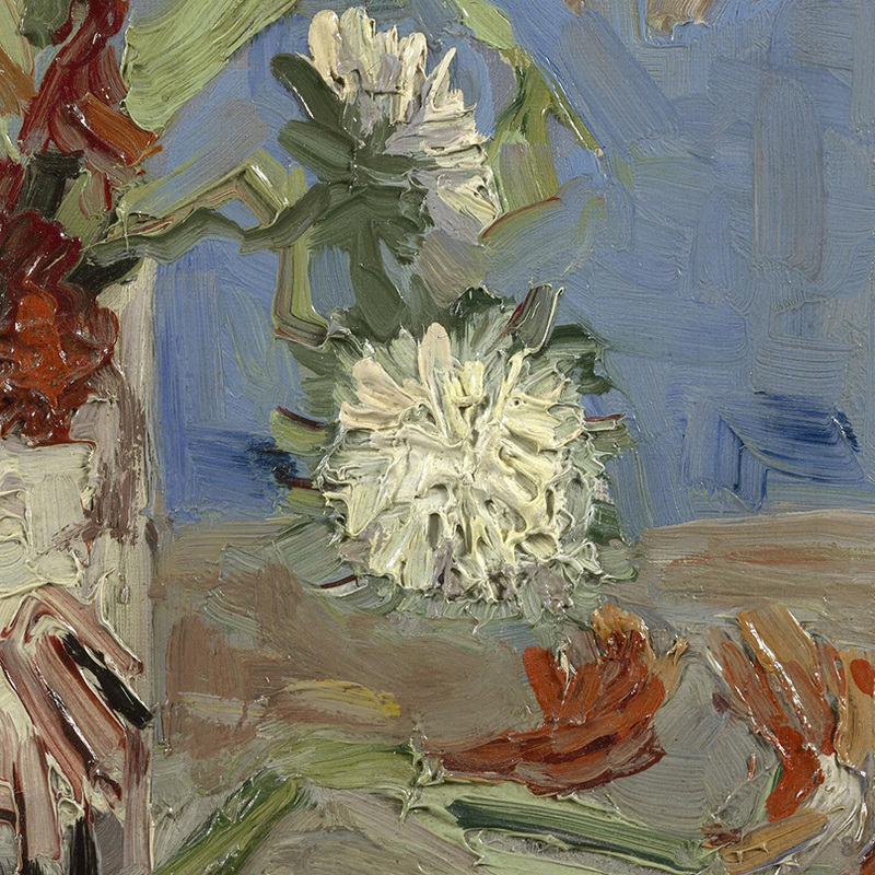 Vase with Gladioli and Chinese Asters (detail) by Vincent van Gogh | Lone Quixote