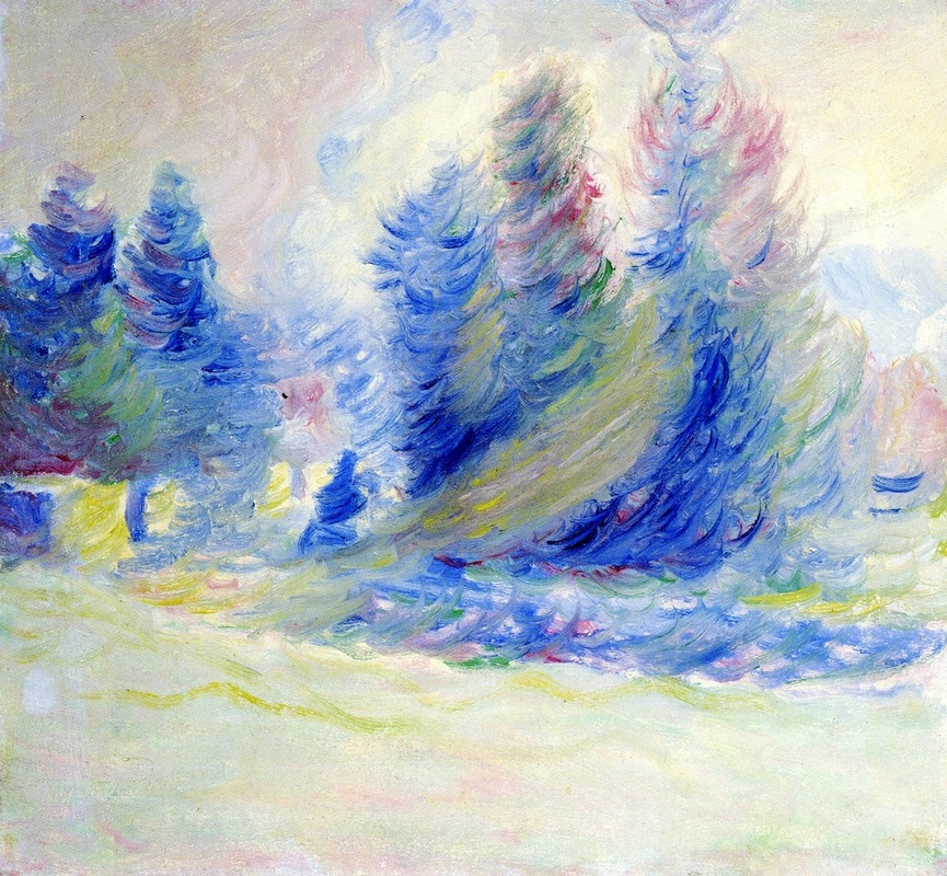 Giverny Trees, Wind, and Snow by Theodore Earl Butler